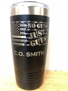 Corrections Officer - No Gun Just Guts Thin Silver Line Flag Badge Tumbler Correctional Officer Quotes, Probation Officer, Vinyl Tumblers, Custom Tumblers, Christmas Tumblers, Gifts For Office, Cricut Tutorials, Department Of Corrections, Cricut Creations