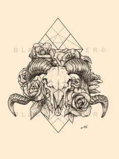 ram skull tattoo   Tumblr                                                                                                                                                                                 More