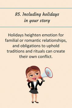 85: Including holidays in your story.