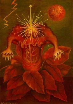 Flower of Life, Oil by Frida Kahlo (1907-1954, Mexico)