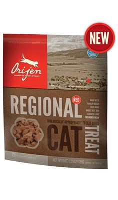 Regional Red Freeze Dried Cat Treat. Formula matched to our NEW ORIJEN Regional Red cat food