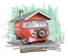 I saw this from @freedomvessel and my jaw dropped in horror and amazement! I would have loved to have been a fly on the wall of the moment of inspiration that created this... #nrwstr for van portrait consideration #vanagonlife #vanagon #sketch #cintiq #drawitquickly #getoutthere #vankin #drawninportland #stateofvanagon #shareyourstoke  #digitalwatercolor #vwt3 #vwart #vintagevan #classicvw #vanlife #vwlife #vw #vwt2 #hotvws #hippyvan #aircooled #vwlove #kombi #vwkombi #tinyhouse #tinyhome…