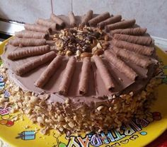 Ferrero Rocher torta Sweet Recipes, Cake Recipes, Hungarian Recipes, Ferrero Rocher, Cake Cookies, Confectionery, Creme, Clean Eating, Food And Drink
