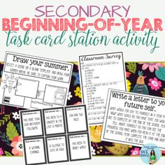 Beginning of the Year Station Task Card (Get-to-Know-You) Activity for Secondary Beginning of the Year Station Task Card. by Kacie Travis Get To Know You Activities, First Day Of School Activities, 1st Day Of School, Middle School, School Fun, School Stuff, Science Student, Physical Science, Classroom Organization