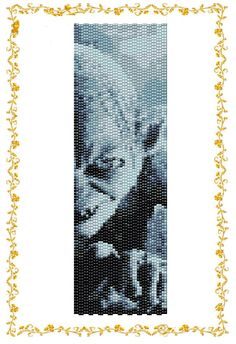 "Peyote beading pattern Bracelet cuff  ""Gollum"".  Instant Download. Pattern PDF."