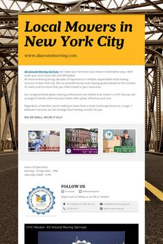 Local Movers, Moving, Moving Company, Moving Services in the NYC Tri state area