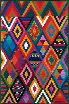 Priscilla Bianchi. Nebaj III (2003). Inspired by Guatemalan hand-woven textiles and Indonesian batiks.