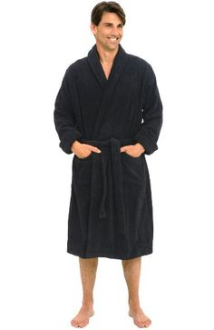 552e1ab9b6 Black Friday Del Rossa Men s Thick Terry Cloth Cotton Bathrobe