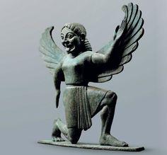Statuette representing a Gordon, Greek, ca. 6th century B. C.