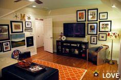 love this room, very sophisticated man's room...even if it is Auburn!