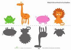 Preschool Shapes Sorting & Categorizing Worksheets: Animal Shapes