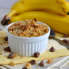 Individual Banana Chocolate Chips Crisp