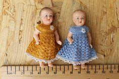 Dollhouse miniature dress for tiny baby doll