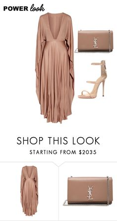 """Naya"" by kingsandqueens2015 ❤ liked on Polyvore featuring Valentino, Yves Saint Laurent and Giuseppe Zanotti"