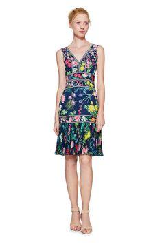 6705dcf8b92a Olga Dress. Grooms Mom DressGroom DressTadashi ShojiPlunging  NecklinePleated SkirtBeautiful DressesFloral PrintsCocktail ...