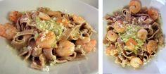 Pasta mit Shrimps und Avocado-Creme