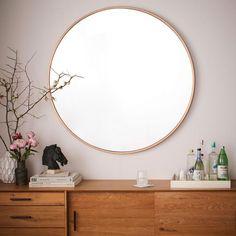 brass framed circle mirror. / sfgirlbybay