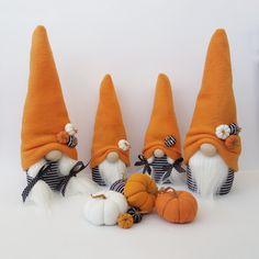 Halloween Pumpkins, Halloween Crafts, Fall Crafts, Christmas Crafts, Gnomes, Fabric Crafts, Etsy, Handmade, Tray Decor