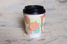 Coffee Cup Sleeve Cozy  Pineapple  by AmandaJeanCreations on Etsy