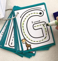 Little Letters Dry erase alphabet clip cards flash cards