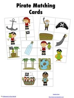 Pirate Matching Cards free
