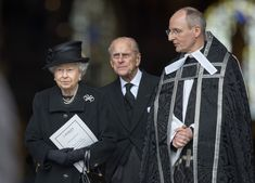 The Queen and Prince Philip attending the funeral of Baroness Thatcher at St.Paul's Cathedral 17 Apr 2013
