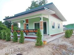 Simple and Elegant Small House Design With 3 Bedrooms and 2 Bathrooms - Ulric Home Modern Bungalow House Design, Simple House Design, Bungalow House Plans, Bungalow Designs, Single Storey House Plans, One Storey House, Two Story House Design, Small Beach Houses, House Construction Plan