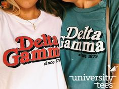 University Tees - Senior Shirts - Ideas of Senior Shirts - University Tees Sorority Shirt Designs, College Sorority, Sorority Shirts, Sorority Canvas, Sorority Paddles, Sorority Crafts, Sorority Life, Delta Gamma Shirts, Kappa Kappa Gamma