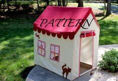 Fabric Playhouse with PVC frame - Fort - PVC Playhouse -  via Etsy.