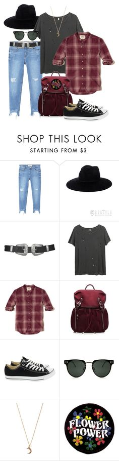 """""""Untitled #978"""" by soosoali ❤ liked on Polyvore featuring MANGO, Topshop, R13, Hollister Co., M Z Wallace, Converse, Spitfire and claire's"""