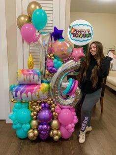 Balloon Crafts, Birthday Balloon Decorations, Fiesta Decorations, Happy Birthday Balloons, Elegant Birthday Party, Birthday Parties, Balloon Stands, Balloon Arrangements, Balloon Columns