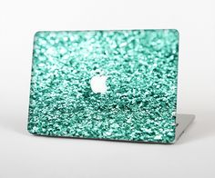 """The Glimmer Green Skin Set for the Apple MacBook Pro 15"""" with Retina Display from Design Skinz"""
