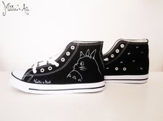 Studio Ghibli hand painted shoes series / Ghibli Logo shoes /
