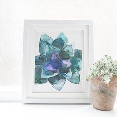Succulent Art Print Cacti Print Aloe Vera Art Instant