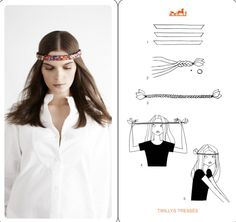 How to tie a scarf the Hermes way - Twilly Tresses