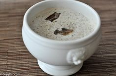 """Panera baked potato soup is a recipeyou don't want to miss. Creamy and delicious, it will warm your soul. Get this <a href=""""http://www.copykat.com/2015/07/29/panera-bread-baked-potato-soup/"""">recipe</a>."""
