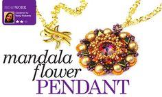 'Mandala Flower Pendant' by Starman TrendSetter Vicky Roberts, The Bead Shop Liverpool   Issue 65 of Bead Magazine