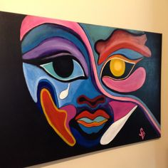 Modern Portrait Artists, Modern Portraits, Painting People, Painting Art, Modern Art, Contemporary Art, Original Artwork, Original Paintings, Tribal Art