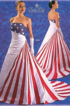 Red white and blue satin american flag casual wedding dress Wedding Dress Pictures, Blue Wedding Dresses, Wedding Dress Sizes, Blue Dresses, Wedding Gowns, Bridesmaid Dresses, Dress Red, Wedding Attire, Fancy Dress