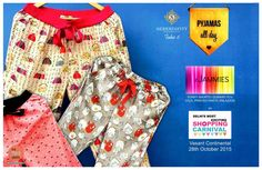 #betheredelhi for Most Exciting Shopping Carnival of the Season @ #serendipitytake6 presenting ..The house of d'Jammies to provide luxury, quality and value on chic and vibrant wear for you to expand your wardrobe. Comfortable lounge wear with varied prints , quality stich and snappy style. D'Jammies