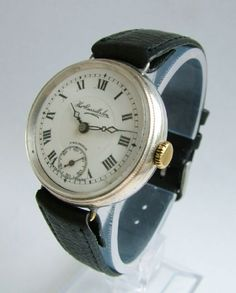 1926 Thomas Russell Premier silver trench watch