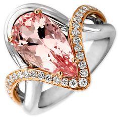 FREDERIC SAGE | Morganite and Diamond Ring | {ʝυℓιє'ѕ đιåмσиđѕ&ρєåɾℓѕ}