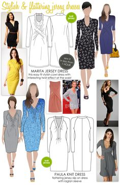 Stylish & flattering jersey dresses