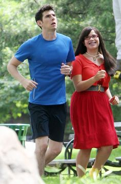 Ugly Betty Shoots In Central Park,NYC