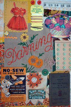 sewing collage- Mandy Pattullo