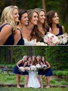 Navy Blue Bridesmaid Dress | Rustic Whimsical at Grand Lake | COUTUREcolorado WEDDING: colorado wedding blog + resource guide