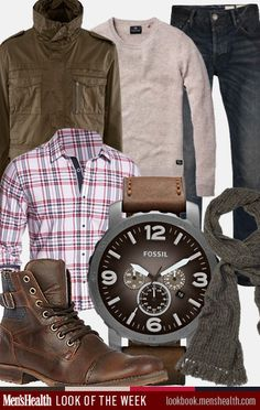 Dress with neutrals but still stand out.  Jacket: H shirt: ExpressSweater: Scotch and SodaScarf: Club MonacoJeans: All SaintsBoots: Steve MaddenWatch: Fossil