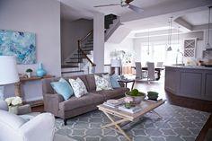 Grey and Turquoise Living Room - AzGathering.Com