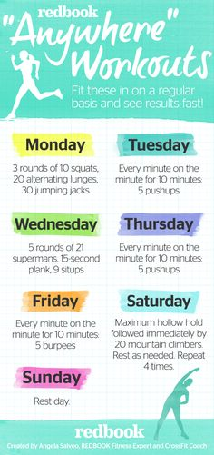 """5+Fast,+Easy+""""Anywhere""""+Workouts+That+Will+Keep+You+in+Your+Skinny+Jeans  - Redbook.com"""