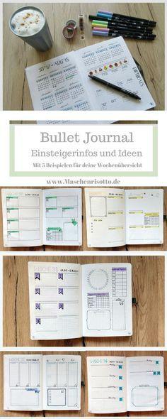 Bullet Journal - Tipps und Ideen für Einsteiger - mit 5 Designbeispielen für dein Wochenlayout